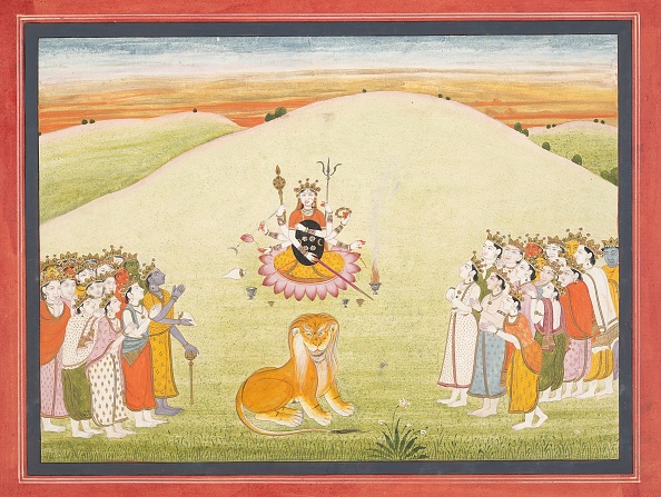 1810-1819「The Creation Of Durga: Page From A Dispersed Markandeya Purana...」:写真・画像(19)[壁紙.com]