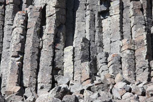 Basalt「September 8, 2009 - Basalt Columns formed by cooling lava, Sheepeater Cliffs, Yellowstone National Park, Wyoming.」:スマホ壁紙(8)