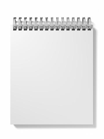 螺旋形「ブランクノート型」:スマホ壁紙(18)