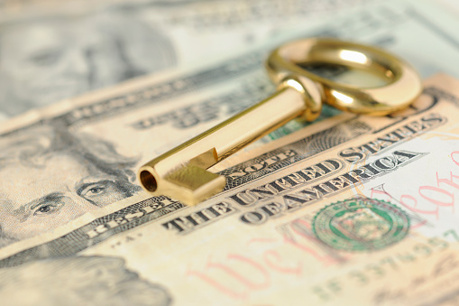 American One Hundred Dollar Bill「Gold Key to Success over United States Dollars in Cash」:スマホ壁紙(6)
