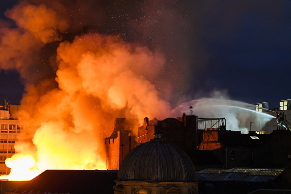 Glasgow - Scotland「Glasgow School Of Art Building On Fire For The Second Time」:写真・画像(9)[壁紙.com]