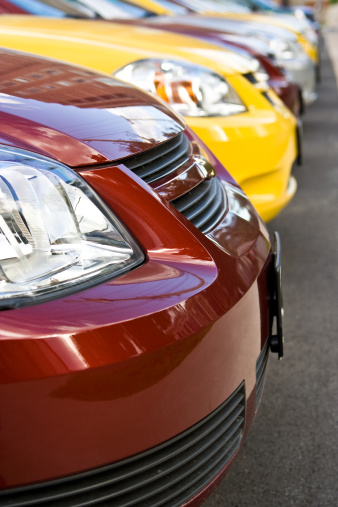 Car Dealership「Row of New Cars at Dealership」:スマホ壁紙(18)