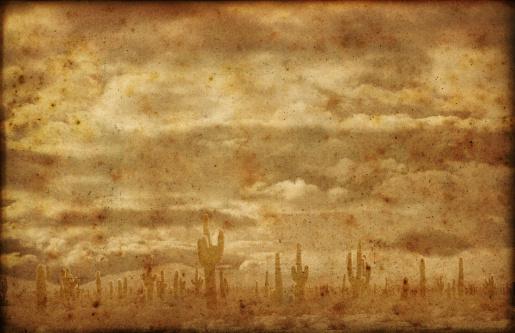 Sepia Toned「Far West Badlands Grunge Background」:スマホ壁紙(0)