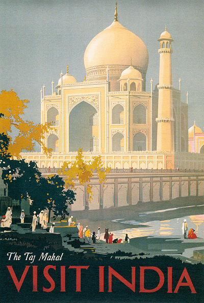 GraphicaArtis「Taj Mahal Travel Poster」:写真・画像(7)[壁紙.com]