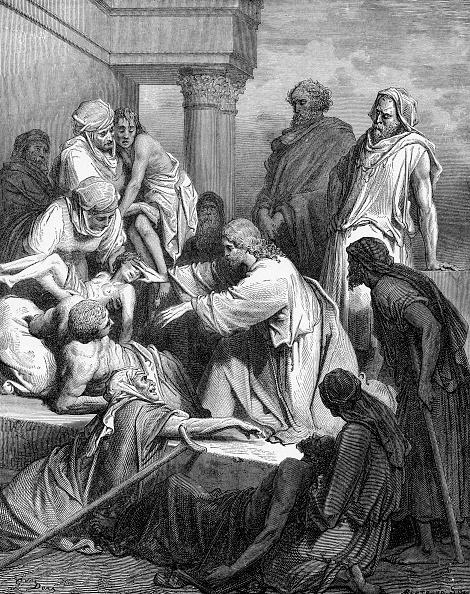 Old Testament「Jesus healing the sick (Matthew chapter IV)」:写真・画像(8)[壁紙.com]