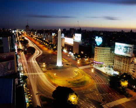 Buenos Aires「Plaza de la Republica at Night」:スマホ壁紙(7)