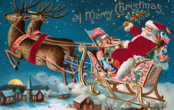 Reindeer「A Merry Christmas Illustration」:写真・画像(13)[壁紙.com]