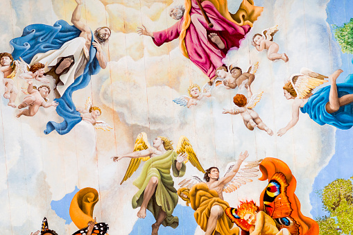 Fresco「Large fresco's on church ceiling」:スマホ壁紙(9)