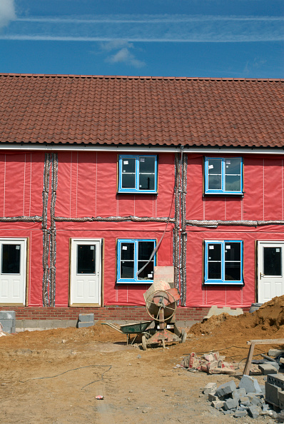 Finance and Economy「Insulation protection on a new housing development, Great Yarmouth, United Kingdom」:写真・画像(2)[壁紙.com]
