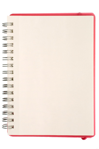Diary「Blank isolated notebook page」:スマホ壁紙(15)