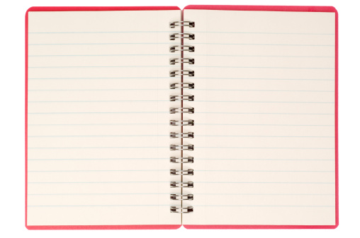 Diary「Blank isolated notebook pages」:スマホ壁紙(13)