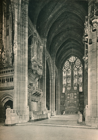 Giles「Liverpool Cathedral: The Choir, Looking East. Architect, Sir G. Gilbert Scott, R.A., 1924.」:写真・画像(16)[壁紙.com]