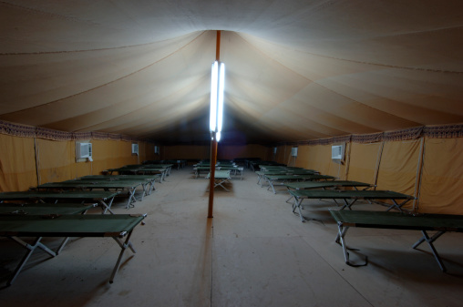 Tent「Cots inside military tent, Iraq」:スマホ壁紙(13)