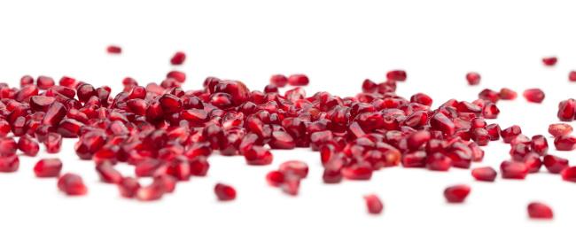 Middle Eastern Food「Scattered Pomegranate Fruit Seeds Banner」:スマホ壁紙(18)