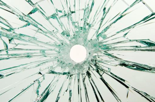 Gray Background「Bullet Hole Glass」:スマホ壁紙(12)