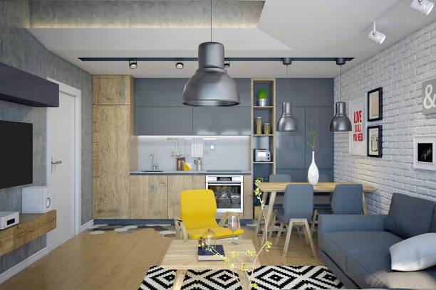 Render of modern living room:スマホ壁紙(壁紙.com)