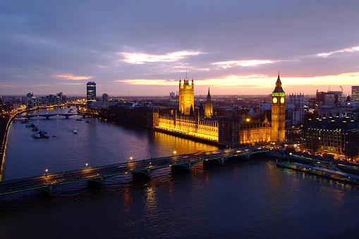 Westminster Abbey「Houses of Parliament, Big Ben, Westminster Bridge and River Thames」:スマホ壁紙(15)
