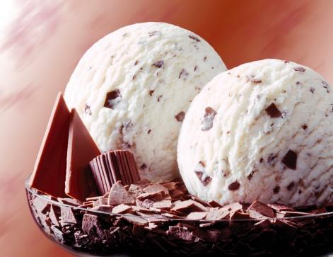 アイスクリーム「Stracciatella ice cream, close-up」:スマホ壁紙(9)