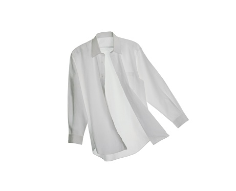Businesswear「A White Button Down Shirt on a White Background」:スマホ壁紙(6)