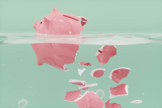 Shattered Piggy Bank In The Water:スマホ壁紙(壁紙.com)