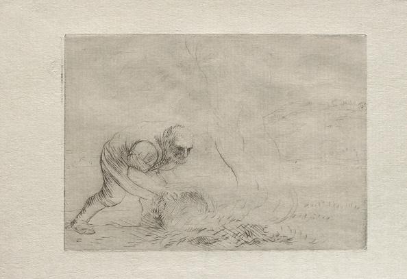 Grass Family「Burning The Grass. Creator: Alphonse Legros (French」:写真・画像(2)[壁紙.com]