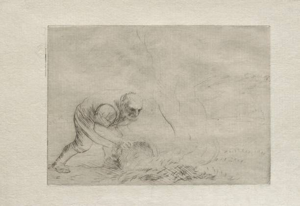 Burning The Grass. Creator: Alphonse Legros (French:ニュース(壁紙.com)