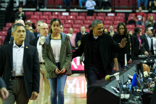 Oregon - US State「The Obama Family Watches U. Maryland v. Oregon State Basketball Game」:写真・画像(18)[壁紙.com]