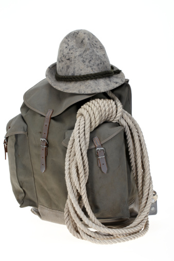 Leisure Activity「Vintage mountaineering backpack with hat」:スマホ壁紙(7)
