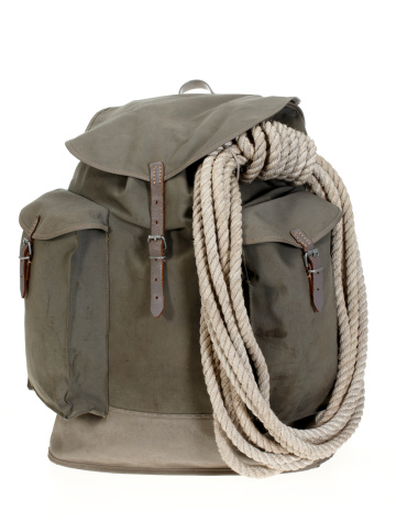 Hiking「Vintage mountaineering backpack with climbing rope」:スマホ壁紙(7)