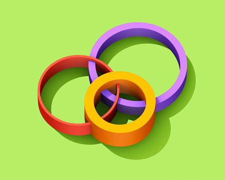 Art And Craft「Intersecting multicolored circles」:スマホ壁紙(16)
