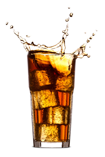 Splashing「Splashing in cola glass」:スマホ壁紙(7)