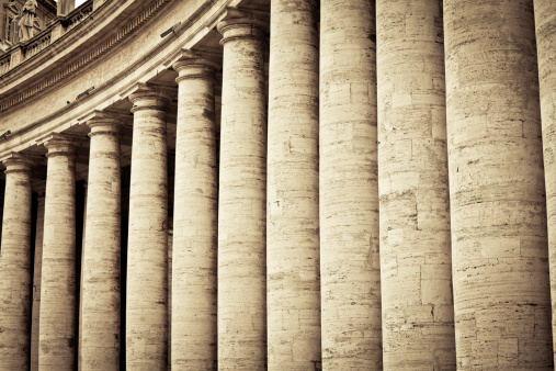 Greco-Roman Style「Colonnades in Vatican City, Rome」:スマホ壁紙(8)