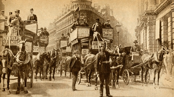 Double-Decker Bus「A Traffic Block In 1900 - A Scene Outside The Mansion House」:写真・画像(15)[壁紙.com]
