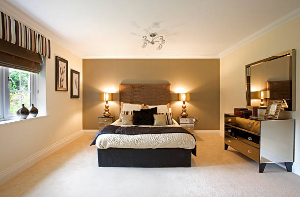 large bright luxury bedroom:スマホ壁紙(壁紙.com)