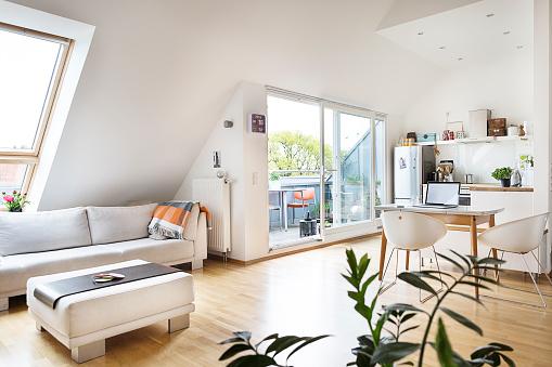 Germany「Empty attic flat」:スマホ壁紙(16)
