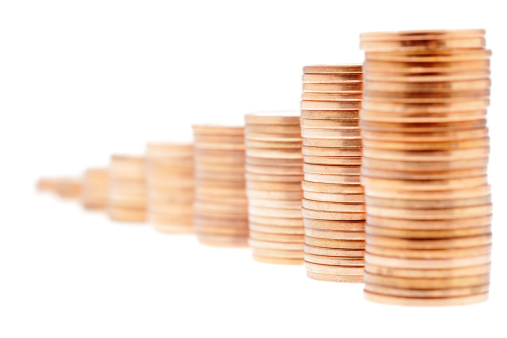 米国硬貨「積み上げられた硬貨」:スマホ壁紙(17)