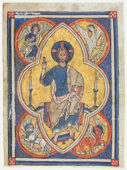Preacher「Miniature Excised From A Psalter: Christ In Majesty With Symbols Of The Four Evangelists」:写真・画像(9)[壁紙.com]