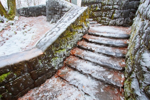 Columbia Gorge National Scenic Area「icy steps by latourell falls」:スマホ壁紙(12)