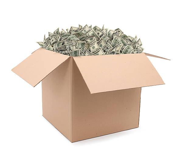 Box Overflowing With Money:スマホ壁紙(壁紙.com)