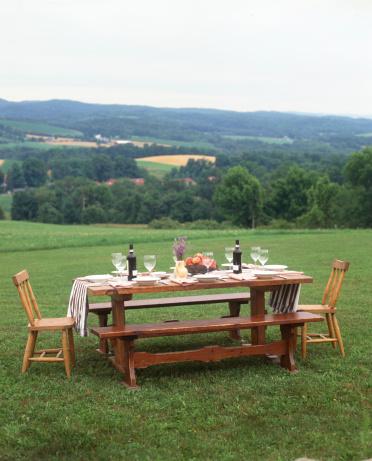Picnic「Casual picnic table setting outdoors」:スマホ壁紙(16)