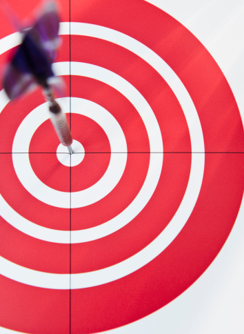 Sports Target「USA, New Jersey, Jersey City, Close up of bull's-eye」:スマホ壁紙(14)