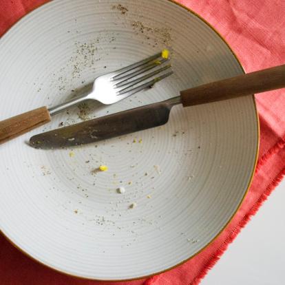 フォーク「USA, New Jersey, Jersey City, Close up of empty plate after meal」:スマホ壁紙(5)