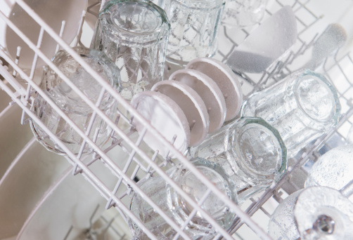 Rack「USA, New Jersey, Jersey City, Crockery in dishwasher」:スマホ壁紙(19)