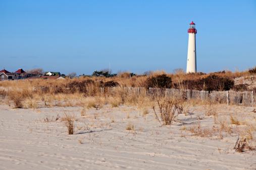 New Jersey「USA, New Jersey, Cape May, Lighthouse on beach」:スマホ壁紙(17)