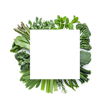Mint Leaf - Culinary「Green vegetables shot from above with copy space. Detox food」:スマホ壁紙(4)