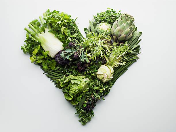 青野菜形成ハート型:スマホ壁紙(壁紙.com)