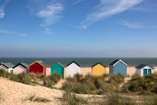 Coastline「Beach Huts, Southwold, East Anglia (XXXL)」:スマホ壁紙(1)