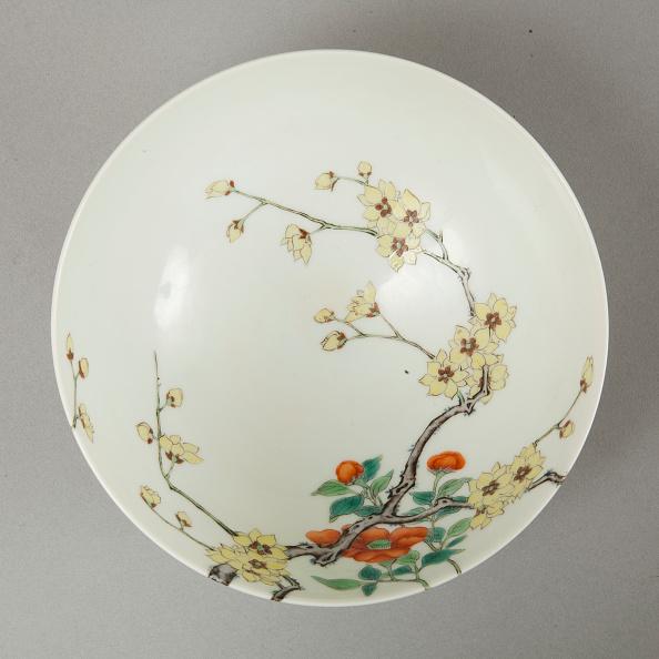 ボタン「Famille rose bowl with floral decoration, 20th century」:写真・画像(16)[壁紙.com]