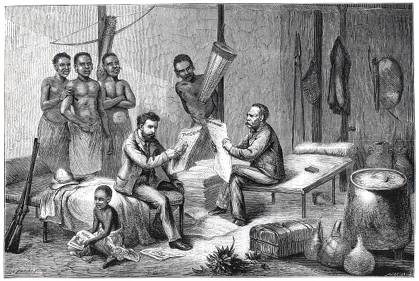 Receiving「Livingstone And Stanley Receiving Newspapers In Central Africa 1871-1873」:写真・画像(15)[壁紙.com]