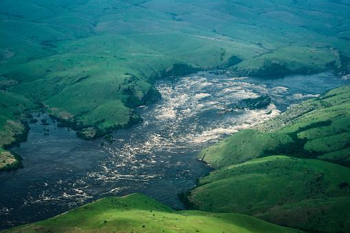 コンゴ民主共和国「コンゴ川下流にリビングストン滝」:スマホ壁紙(9)